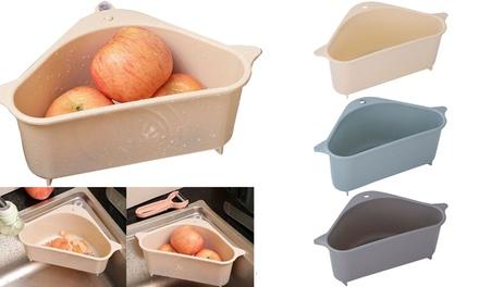Kitchen Filter-Triangular Sink Drain Shelf Kitchen Vegetable Rack Household