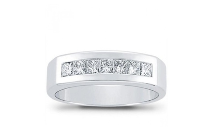 1.00 ct Men's Princess Cut Diamond Wedding Band ring