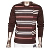 Men's Fashion Plaid Pattern Ribbed Wool Pullover Sweater