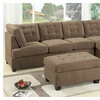 Odessa Waffle Suede Reversible Sectional Sofa with Free Ottoman