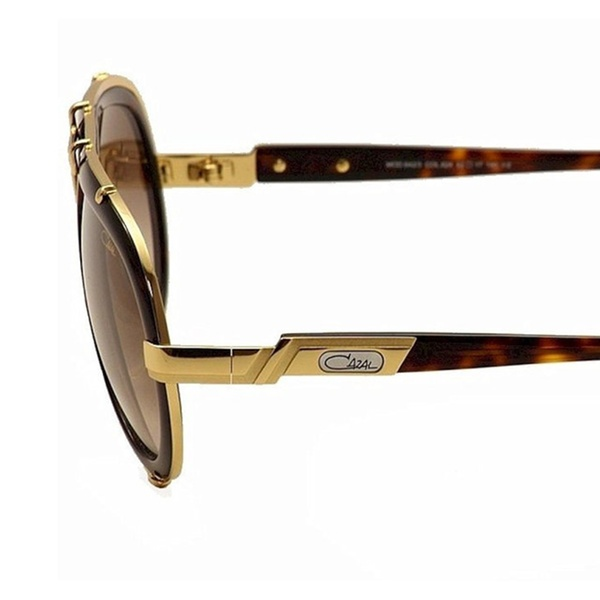 81f18c80e4b7 Cazal 642-3-624 Tortoise Shell And Gold Sunglasses