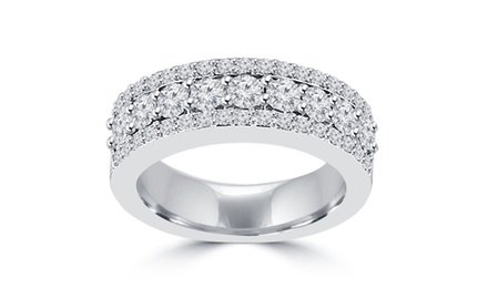 1.60 ct Ladies Round Cut Diamond Anniversary Ring