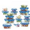 Glasslock Blue Lid 36 Piece Assorted Food Storage Set