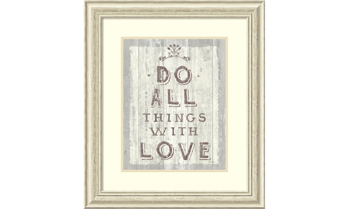 Sue Schlabach \'Do All Things Driftwood\' Framed Art Print 24x28-in