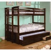 Crotone Twin Over Twin Bunk Bed With Trundle
