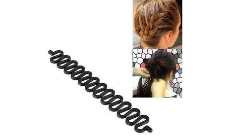 Zodaca Black Hair Styling Accessory Kit Bun Maker Roller Braid Beauty