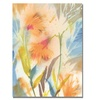 Sheila Golden Tropical Orange Flowers Canvas Print