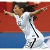 Christen Press Autographed 16×20 Photo Inscribed 2015 WC Champs
