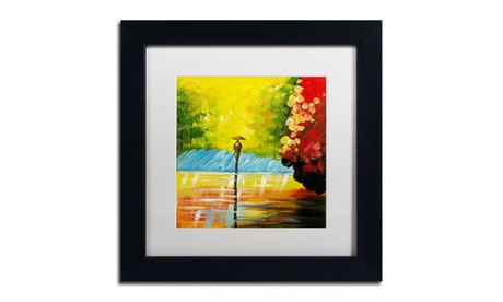 Ricardo Tapia 'Rainy Day' Matted Framed Art 98219ef6-0cec-4e35-b427-bf18f108e05c