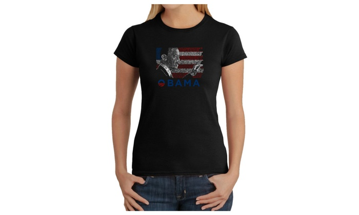 Women's T-Shirt - BARACK OBAMA - ALL LYRICS TO AMERICA THE BEAUTIFUL