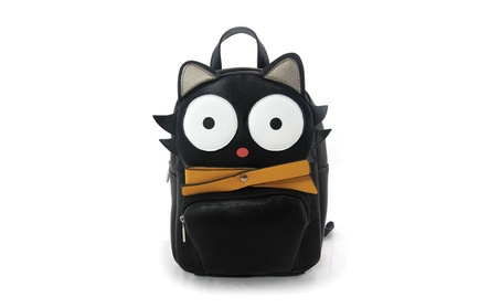 Sleepyville Critters Black Cat Mini Backpack Purse (Goods Women's Fashion Accessories Handbags) photo