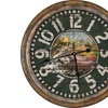 "River's Edge 26"" Distressed Fishing Clock"