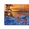 David Lloyd Glover Winter Day Begins Canvas Print