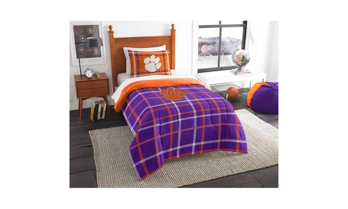 COL 835 Clemson Twin Comforter and Sham