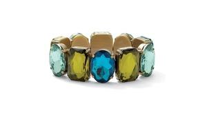 """Crystal Bracelet in Antiqued Gold Tone 7"""""""