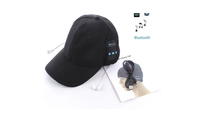 bd633d20f4e Outdoor Sport Wireless Bluetooth Hat Music Baseball Headphone Cap ...