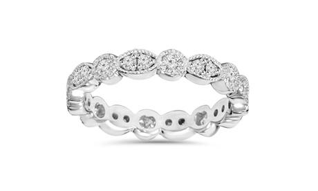 1 CT Diamond Anniversary Stackable Wedding Ring 14K White Gold 0caedb4a-f40c-4acf-9c72-c25ecfd1c46f