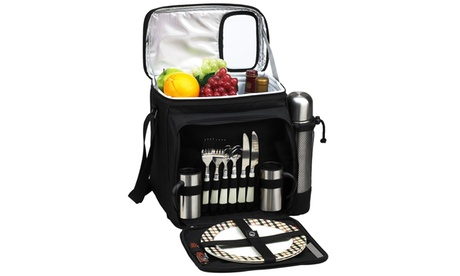 London Picnic Cooler for 2 with Coffee Service abf57c6c-2347-44b3-b2d9-e527ef633844