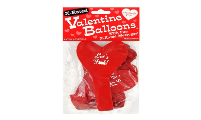 X Rated Valentine Heart Balloons   8 Per Pack