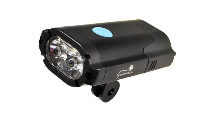 Lumintrail Super Bright USB Rechargeable LED Bike Light Set Headlight Taillig...