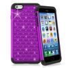 Insten Purple Bling Spot Sparkle Hybrid Cover For iPhone 6 Plus
