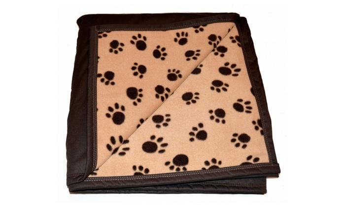 soft dog paw print fleece blanket groupon