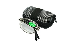 Two way Foldable Reading Glasses Readers with Easy Carrying Case