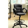Erin Black Faux Leather 5-Caster Adjustable Office Chair