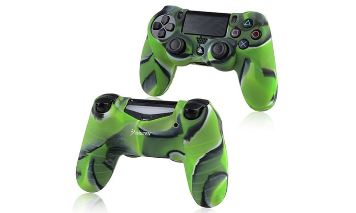 Insten 1x Camouflage Navy Green Skin Case for Sony PlayStation 4 PS4