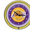 Los Angeles Lakers NBA Neon Clock