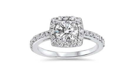 4/5 CT Cushion Halo Diamond Engagement Ring 14K White Gold 2e3e75da-0315-4240-978c-a71f5f4c4504
