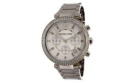 Michael kors women 39 s parker watch groupon for Michaels craft store watches