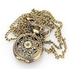 Retro Blossom Carved Pattern Necklace Quartz Pocket Watch S026