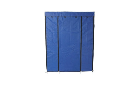 5 Tier 12 Grid Portable Closet Storage Organizer Wardrobe Clothes Rack af048c12-edaa-43c7-bfa8-c1b8122e9f59