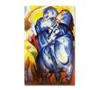 Franz Marc 'A Tower of Blue Horses 1913' Canvas Art