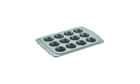 Cake Boss Deluxe Nonstick Bakeware 12-Cup Muffin Pan, Gray 35f3a7b3-5557-4f13-9dbc-1037426b2a1f