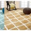 Soft and Cozy Trellis Shag Area Rugs  (8' x 10')