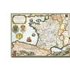 D. Serveaux Map of Routes of St. James 1648 Canvas Print