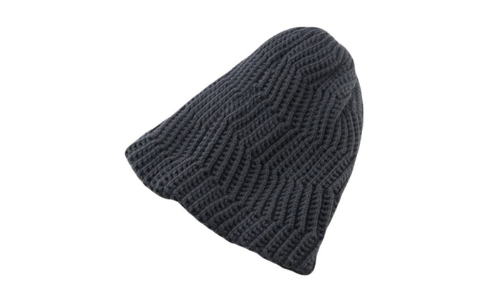 DPN Men's Vintage Rib Worsted Warm Knitted Wool Simple Hat