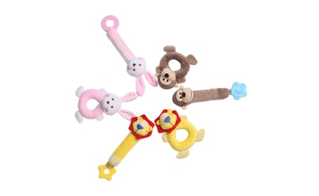 Plush Monkey Rattle Toy Ring Rattle Animal 2 pcs for Babies 2ff7cb68-f95c-431f-8471-dd85fcebbdb3