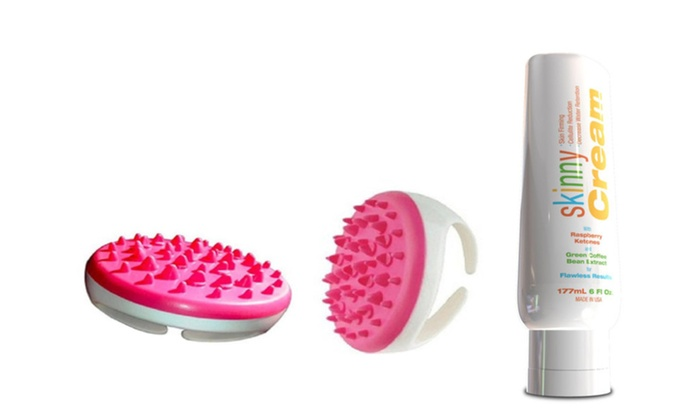 Buy It Now : Skinny Cream Cellulite Reduction and Cellulite Body Massager, Pink