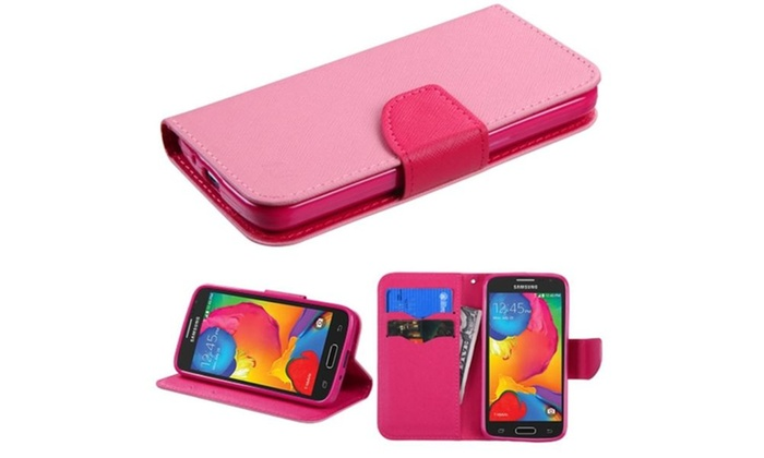 Insten Flip Leather Case W Stand Card Holder For Galaxy