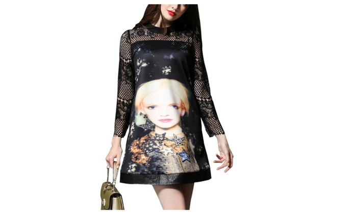 Stylebek: Stylebek Women's Pullover Casual Collarless A Line Dress