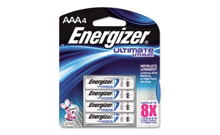 Energizer e² Lithium Batteries, AAA, 4/Pack (EVEL92BP4)