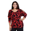 Women's Plus Size Abstract Red and Black Printed Tunic