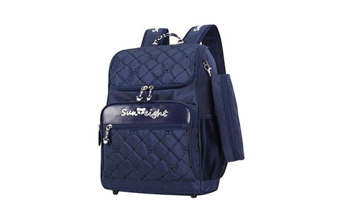 Boys Cool Design Book Bags Kids School Backpack Bookbag Blue Small