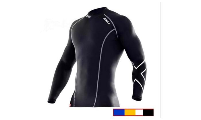 2XU compression elastic fitness tight man top quick-drying