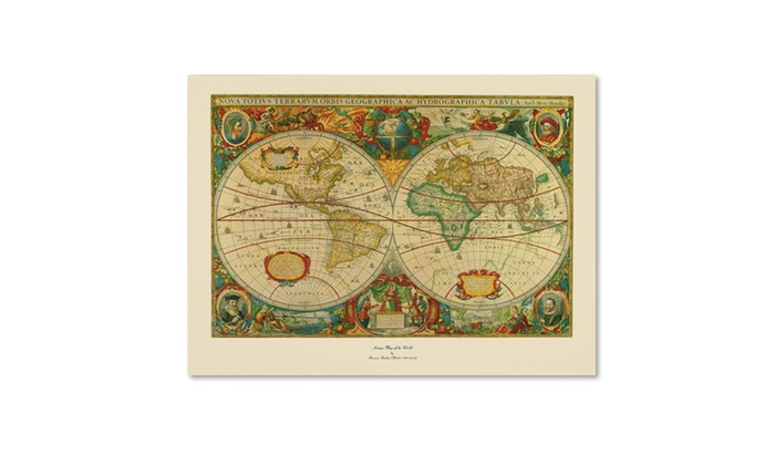 Old world map painting canvas art groupon groupon goods old world map painting canvas gumiabroncs Choice Image