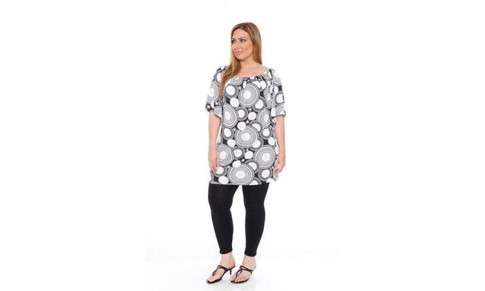 Medallion   Plus Rose Tunic Dress