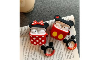 AirPod Cute Mickey / Minnie Character Charging Shockproof Case w/Ring Buckle